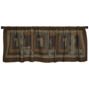 Frontier Log Cabin Valance