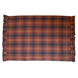 Harvest Plaid Ruffled Pillow Case Set