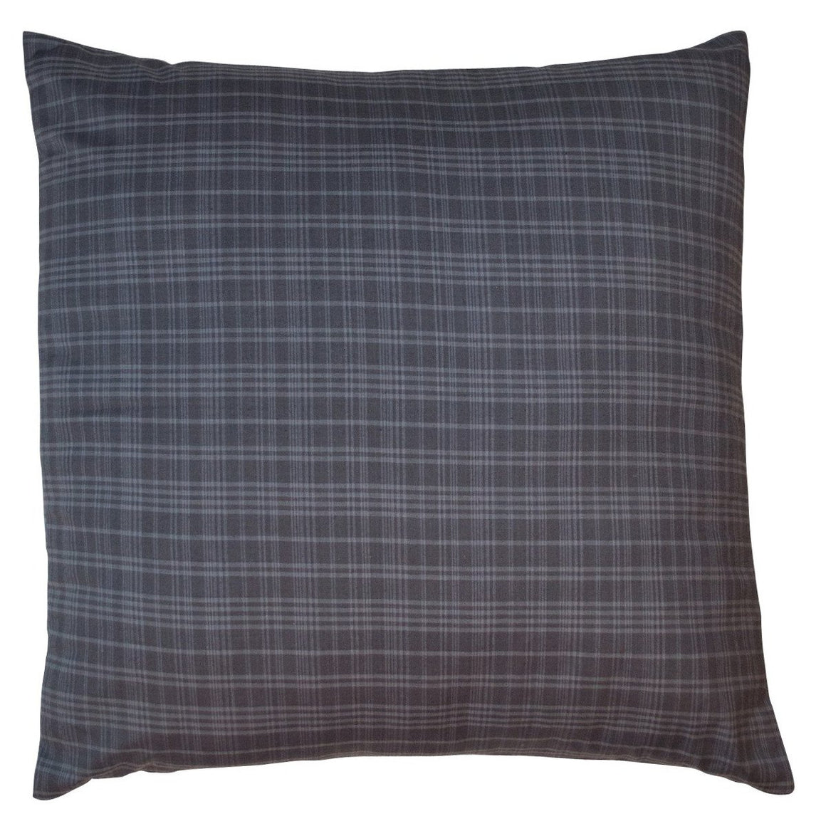 Indigo Plaid Euro Sham