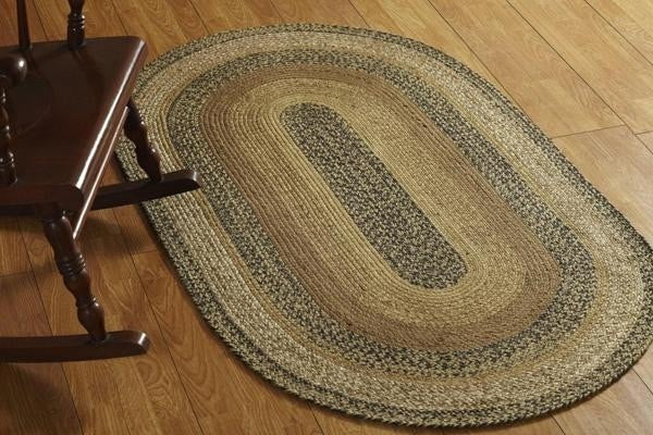 Kettle Grove Oval Braided Rug Retro Barn Country Linens