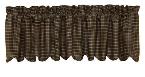 Kettle Grove Scalloped Valance - Retro Barn Country Linens - 1
