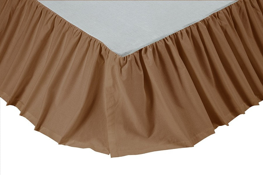 Ashton & Willow Khaki Bedskirt 16""