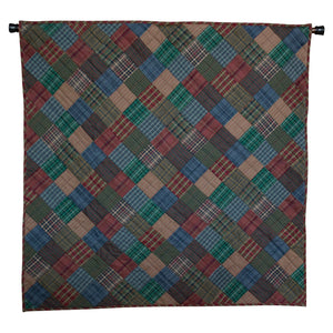 Lincoln Plaid Mini Quilt - Table Topper/ Wall Hanging