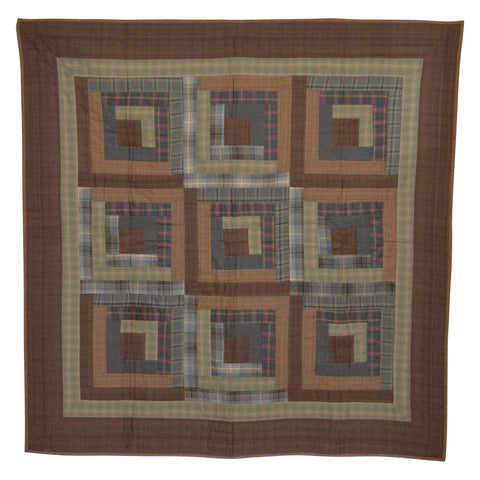Frontier Log Cabin Mini Quilt by Retro Barn