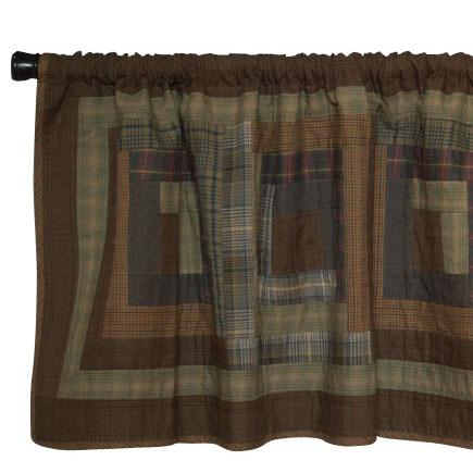 Frontier Log Cabin Valance by Retro Barn