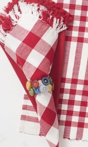 Happy Picnic Napkin Set - Retro Barn Country Linens - 1