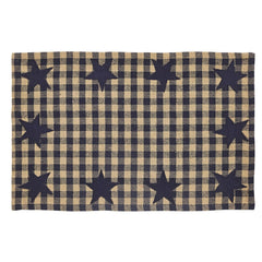 Navy Star Placemat Set - Retro Barn Country Linens