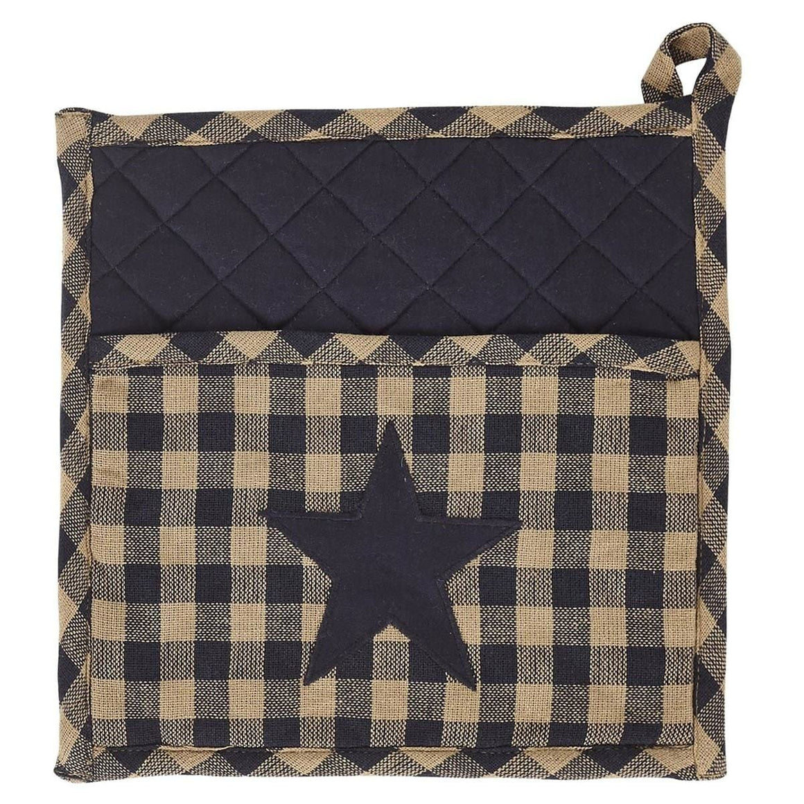 Navy Star Pot Holder