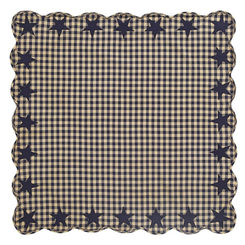 Navy Star Square Tablecloth - Retro Barn Country Linens
