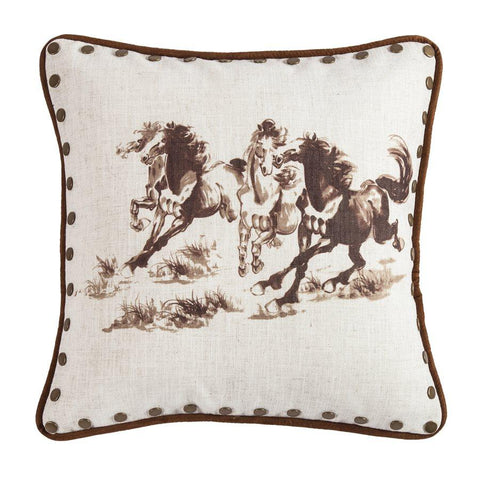 Studded Horse Pillow at Retro Barn