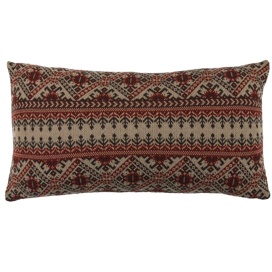 Fair Isle Knit Body Pillow