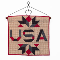 Patriot Star USA Quilt Block by Retro Barn