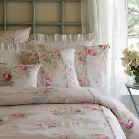 Pink Shore Rose Duvet Cover - Retro Barn Country Linens - 1
