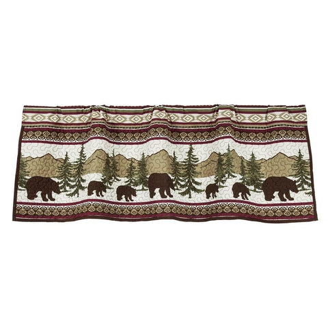 Bear Trail Quilted Valance