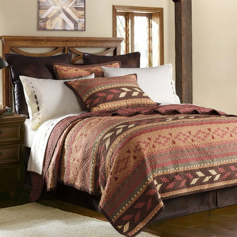 Broken Arrow Quilt Set - Retro Barn Country Linens - 1