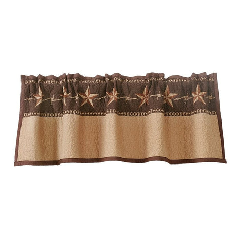 Star Ranch Quilted Valance - Retro Barn Country Linens