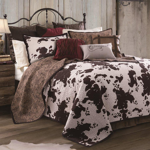 Elsa Cowhide Quilt Set at Retro Barn