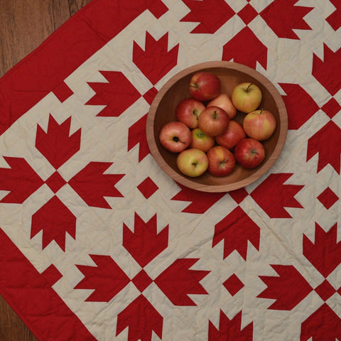 Red Bear's Paw Mini Quilt by Retro Barn