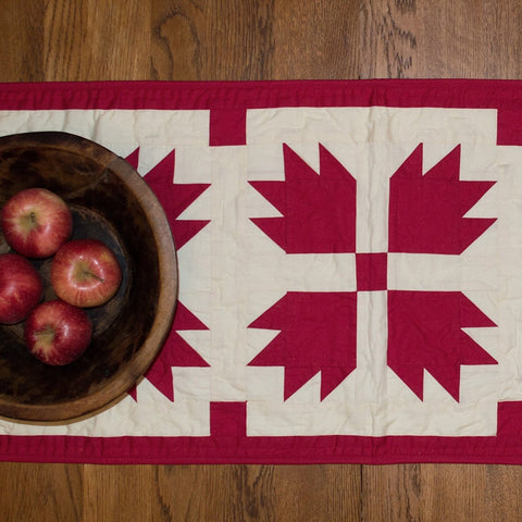 Red Bear's Paw Table Runner