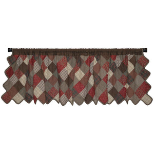 Rosewood Patchwork Valance