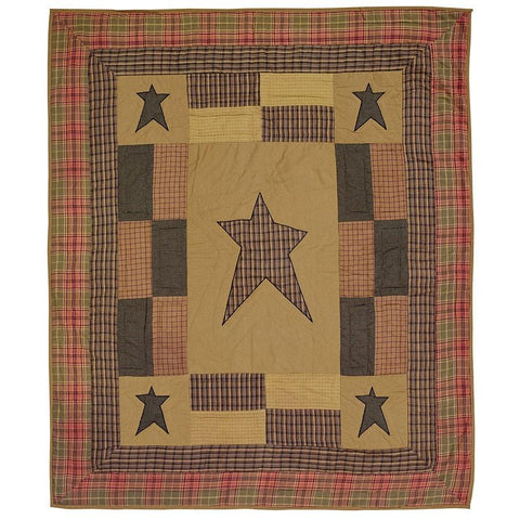 Stratton Quilted Throw / Wallhanging - Retro Barn Country Linens - 1