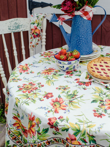 Friendship Tablecloth & Napkin Set - Retro Barn Country Linens - 4