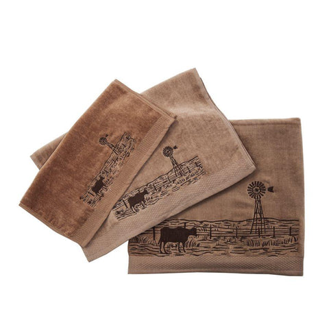 Farm Landscape Bath Towel Set