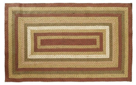 Tea Cabin Braided Rectangle Rug - Retro Barn Country Linens