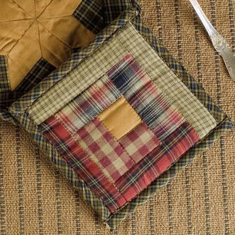 Tea Cabin Pot Holders - Retro Barn Country Linens