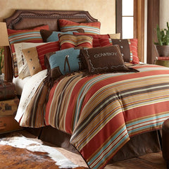 Calhoun Comforter Set - Retro Barn Country Linens - 1