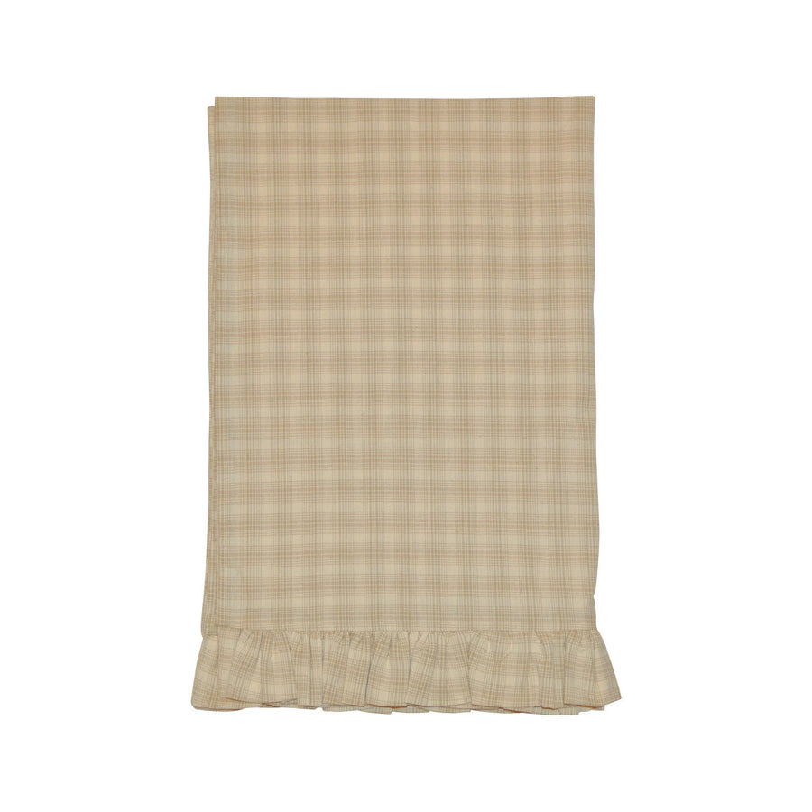 Wheaten Plaid Ruffled Pillow Case Set