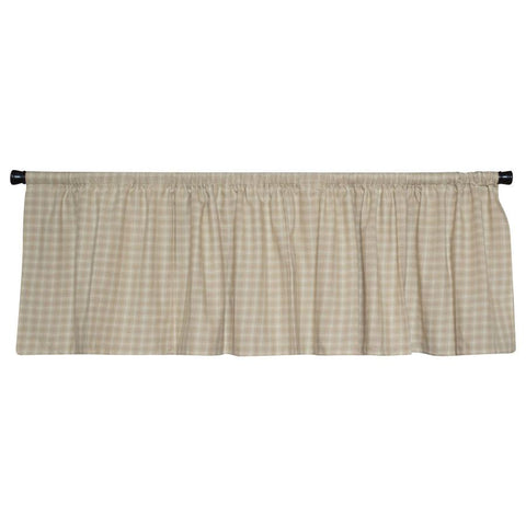 Wheaten Plaid Valance by Retro Barn