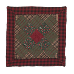 Winterberry Patchwork Pillow by Retro Barn
