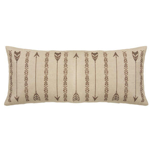 Burlap Arrow Pillow