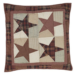Abilene Star Quilted Euro Sham - Retro Barn Country Linens - 1