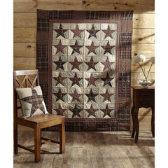 Abilene Star Quilted Throw / Wallhanging - Retro Barn Country Linens - 1