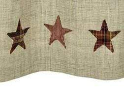 Abilene Star Shower Curtain - Retro Barn Country Linens - 2