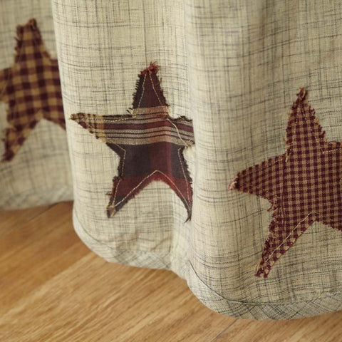 "Abilene Star 63"" Panel Set - Retro Barn Country Linens - 2"