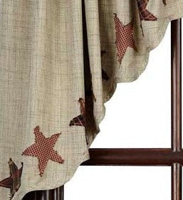 Abilene Star Prairie Swag - Retro Barn Country Linens - 2
