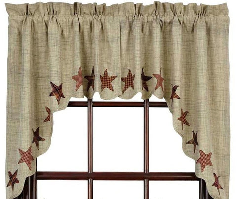 Abilene Star Swag - Retro Barn Country Linens - 1