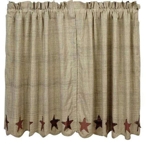 Abilene Star Tier Set - Retro Barn Country Linens - 1