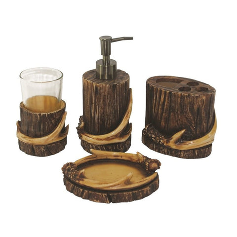 Antler Bath Accessory Set - Retro Barn Country Linens