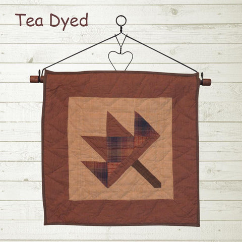 autumn leaf tea dyed quilt block