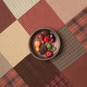 Autumn Plaid Patchwork Tablecloth