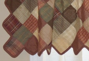Autumn Plaid Patchwork Valance - Retro Barn Country Linens - 3