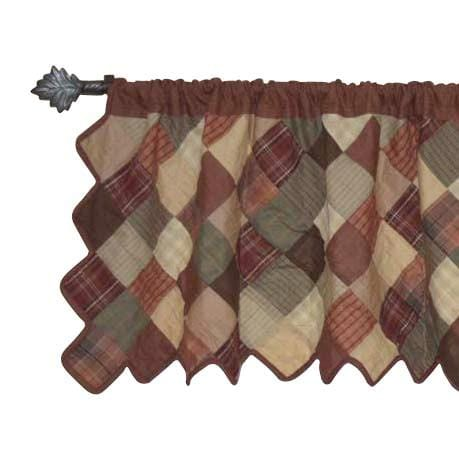 Autumn Plaid Patchwork Valance