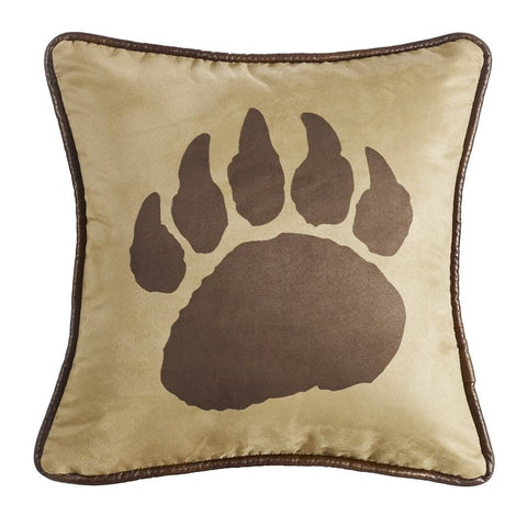Bear Claw Pillow - Retro Barn Country Linens - 1