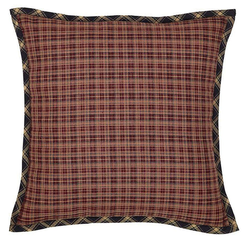 Beckham Fabric Toss Pillow - Retro Barn Country Linens - 1