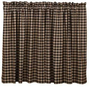 Bingham Plaid Tier Set - Retro Barn Country Linens - 1