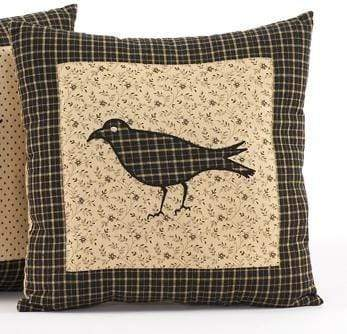 Kettle Grove Black Crow Mini Pillow - Retro Barn Country Linens
